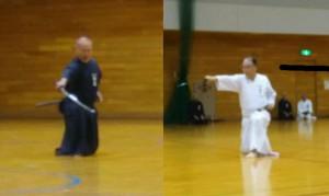 佐久間先生と田代先生の演武です